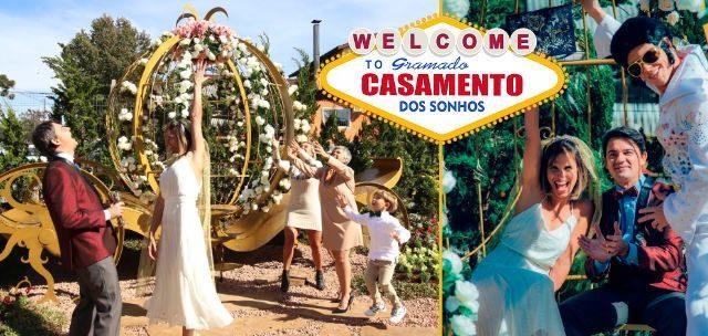 CASAMENTO ESTILO VEGAS: Venha Celebrar seu Casamento dos Sonhos em Gramado por SÓ R$299 e em até 12x!