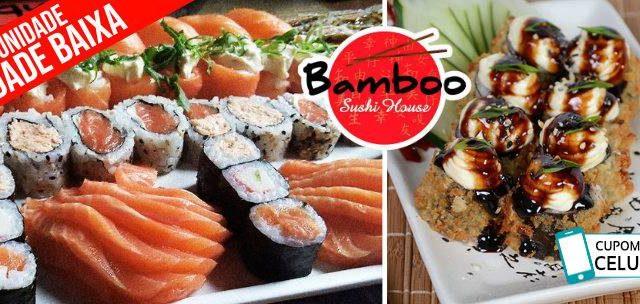 BAMBOO SUSHI Cidade Baixa: Sequência de Sushi com Sashimi, Gunkas, Hots e Temaki LIVRE a partir de R$59,90!