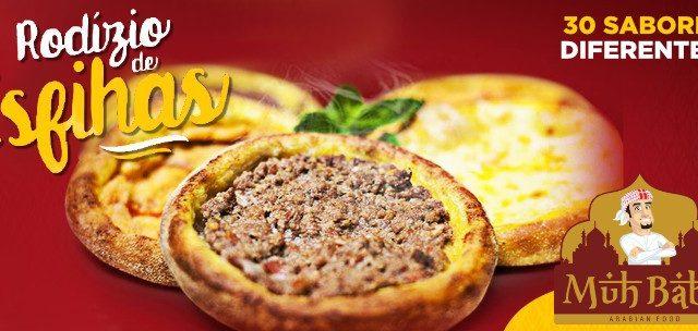 MUHBABA Arabian Food: O Primeiro Rodízio de Esfihas do BRASIL em SÃO LEOPOLDO! 30 Sabores Diferentes de Esfihas por SÓ R$24,90!!