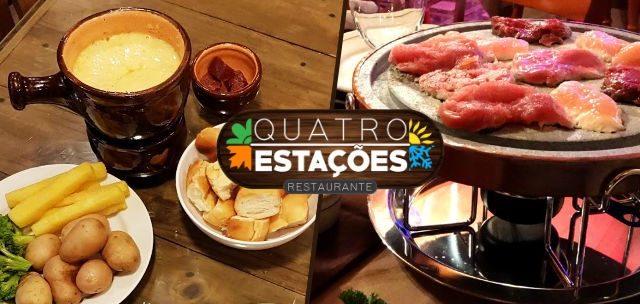 CENTRO DE GRAMADO: Sequência de Fondue no Quatro Estações Restaurante SÓ R$39,90!