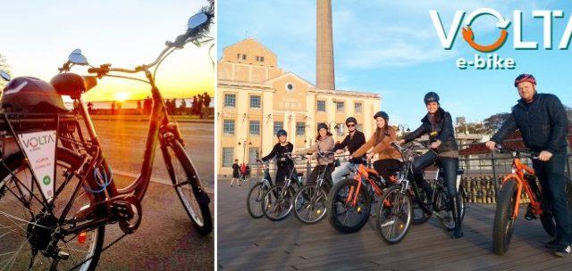 Conheça a Orla do Guaíba com as Bikes Elétricas da VOLTA E-BIKE! Passeio Guiado ou Aluguel de 1h a partir de SÓ R$12,95/pessoa!!!