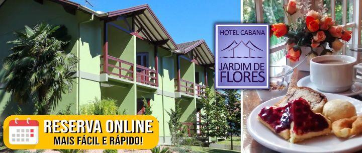 Diária para 2 Pessoas com Café da Manhã no Hotel Cabana Jardim de Flores