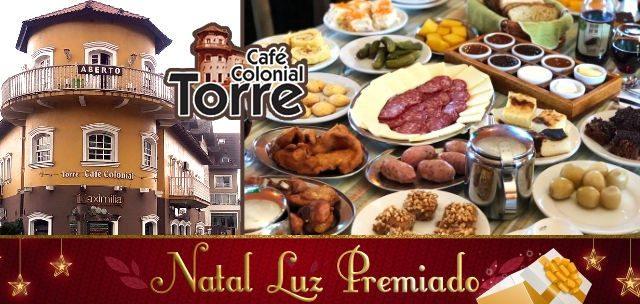 Natal Luz Premiado: Café Colonial + Garrafa de Vinho R$ 49,90.