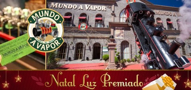 Natal Luz Premiado: Mundo a Vapor R$ 20!