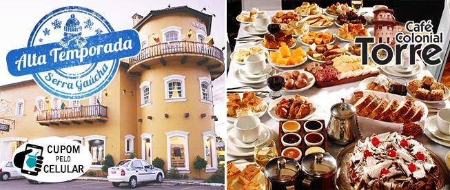 MELHOR CAFÉ COLONIAL DE GRAMADO: Café Colonial LIVRE do Torre Inclusive na Alta Temporada com até 39% de Desconto!