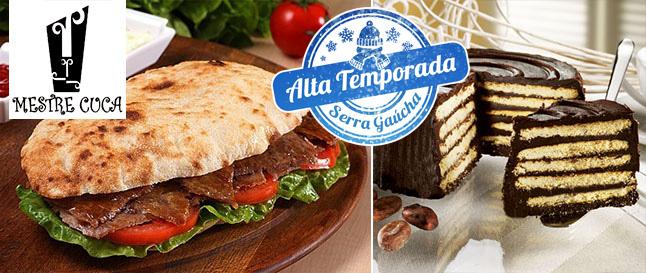 ALTA TEMPORADA EM GRAMADO: Beiruth de Filé Mignon + Torta Alemã no Mestre Cuca a partir de R$25,90!