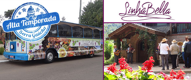 GRAMADO: 6 Horas de Tour Pela Linha Bella + Visitação a Vinícola + Almoço Típico + Degustações por APENAS R$124,90!