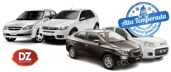 GRAMADO E CANELA: Aluguel de Carro para até 4 Diárias na DZ Receptivo a partir de R$74,75/diária!