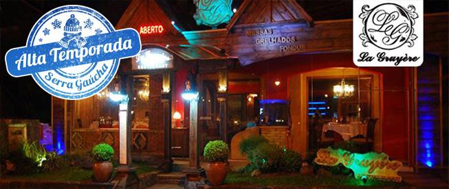 GRAMADO: Sabores e Requinte no La Gruyère! Jantar com Sequência PREMIUM de Fondue para 2 SÓ R$109,90!