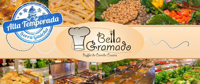 Gramado: Deliciosa Comida Caseira no Restaurante Bella Gramado! Almoço com Buffet Livre a partir de por SÓ R$15,90!