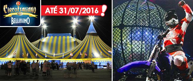 PRORROGADO até 31/07: Circo Italiano! Ingresso Cadeira Central Adulto + Infantil a partir de R$5,95/ingresso!