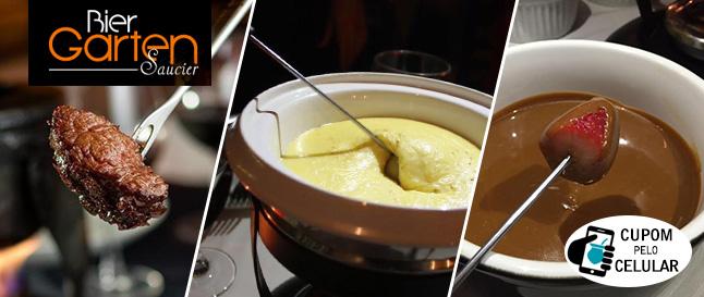 Montserrat: Sequência de Fondue TOP no Bier Garten Saucier de R$84,90 por SÓ R$64,90/pessoa!