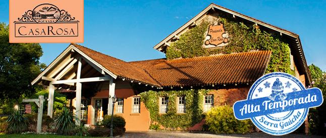 Alta Temporada em CANELA: Diárias para 2 pessoas com Café da Manhã na Pousada Casa Rosa de R$250 por APENAS R$139!