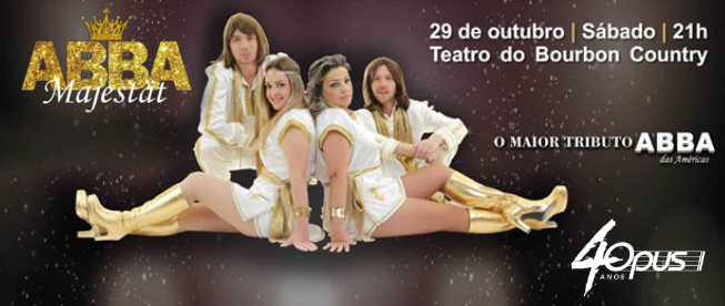 Teatro Bourbon Country: ABBA MAJESTÄT Tribute Show! Ingressos de R$120 por SÓ R$72!