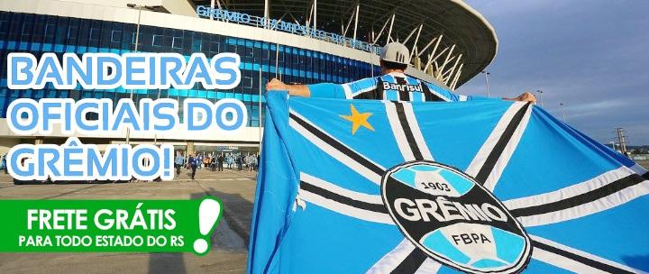 Para Torcer com Todo o seu Amor Tricolor! Bandeira Oficial do Grêmio +  FRETE GRÁTIS ... 3f3f718131cc5