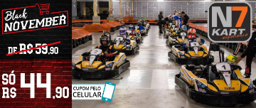 BLACK NOVEMBER: A mais Moderna Pista de Kart Indoor do RS no Shopping Iguatemi! Sessão de 20min de R$59,90 por SÓ R$44,90!