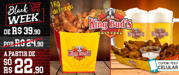 BLACK WEEK: Box Frango + Anéis de Cebola OU 1Kg de Frango Frito + 2 Chopes no King Bud's do CENTRO a partir de SÓ R$22,90!