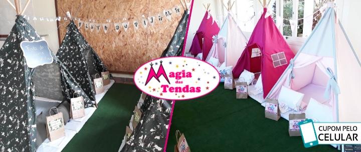 efe9bf316 MAGIA DAS TENDAS  Até 16h de Festa do Pijama com Tendas